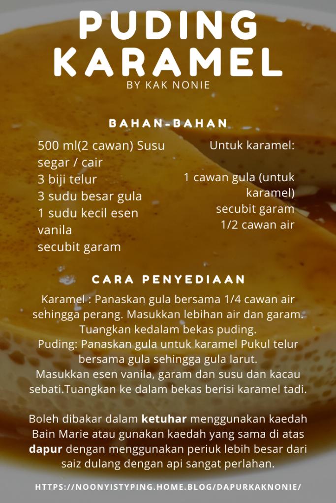 resepi puding caramel